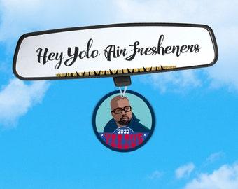 Kanye 2020 Air Freshener - Kanye for President - Kanye Air Freshener - Kanye Campaign Air Freshener