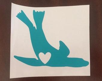 Sea Lion Love               (California Sea Lion decal/sticker)