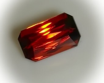2.33ct Orange Spessartite Garnet - Emerald cut VVS gem