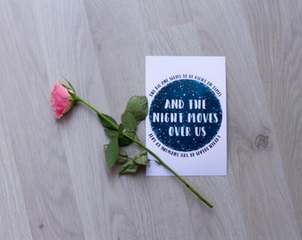 """Map """"And the night moves over us"""""""