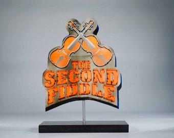 Second Fiddle Neon sign photo / Nashville photo / country western art / guitar photo / vintage neon sign / Nashville / cowboy art / fiddle