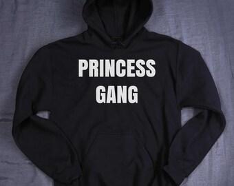 Princess Gang Hoodie Slogan Girly Teen Best Friends Tumblr Sweatshirt Jumper