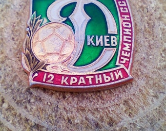 Vintage Soccer Pin Kiev Dynamo 1986