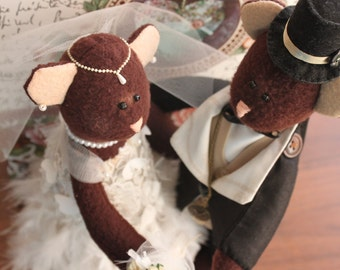 Bears Wedding Couple Toys