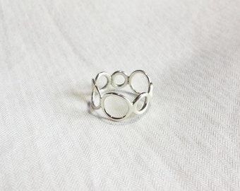Seven-Circle, Sterling Silver Ring