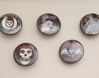 Misfits 5 Large Pin Buttons
