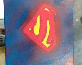 Superman symbol painting