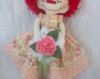 Little flower girl-Primitive raggedy Ann