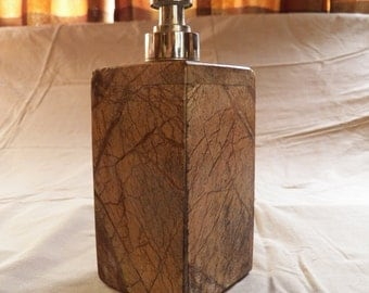 Silver and Marble Soap or Lotion Dispenser