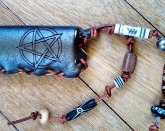 Pentacle Leather Lighter Case