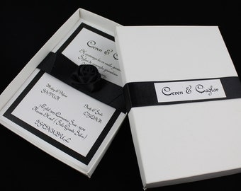 Boxed Wedding Invitation Sample