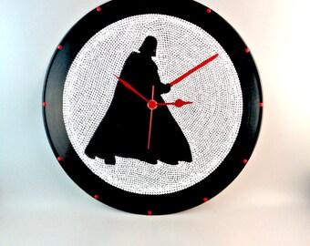 Darth Vader, Star Wars, Wall clock, Vinyl clock, Star Wars clock, Darth Vader clock, Wall art, Gift for him, MiniDotClocks