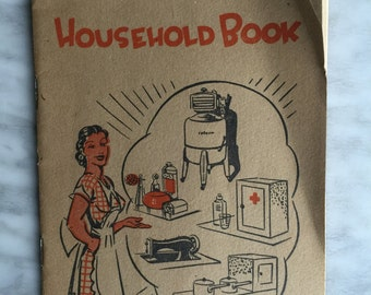 Vintage Victorian Children's Aid Society Home-Household book c1950