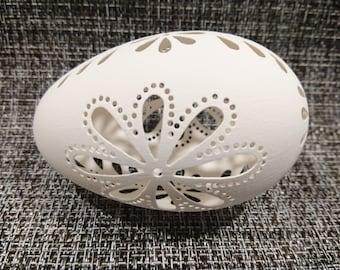 Eggshell of Polish goose - handmade sculpted #10