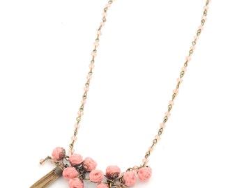 Sabrina necklace, blush