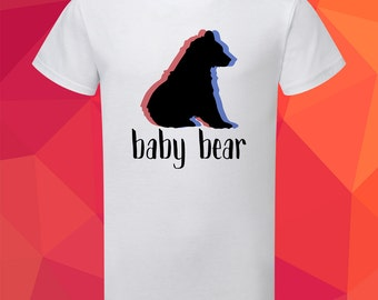 Baby bear boy's t-shirt, Boy's t-shirts, Boy's clothing, Gift for son, Gift for baby boy, Baby Bear, Baby Boy