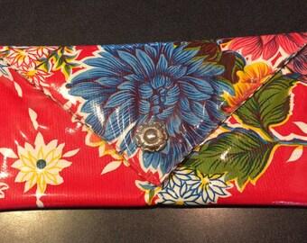 Mexican oilcloth clutch