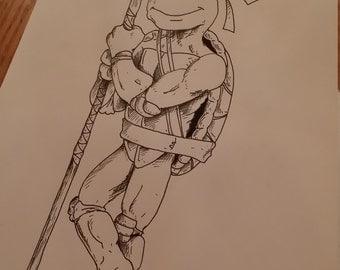 Donatello ink drawing