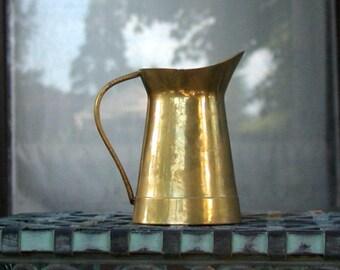 Small Brass Pitcher Vintage Kitchen Jug French Farmhouse Home Decor