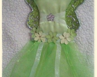 Tinkerbell inspired hair clip and bow holder