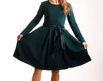 Dark green dress | Etsy