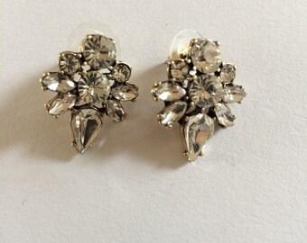 Vintage Art Nouveau Crystal Earrings