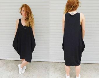 Minimal black oversize style dress