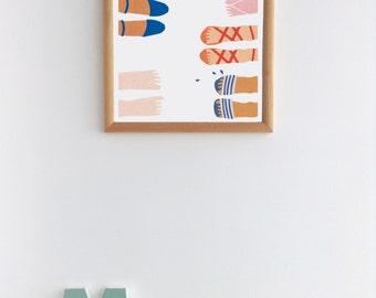 Summer Feet Print