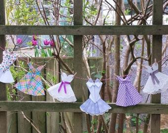 Mixed Origami Dress Garland Bunting 1 metre