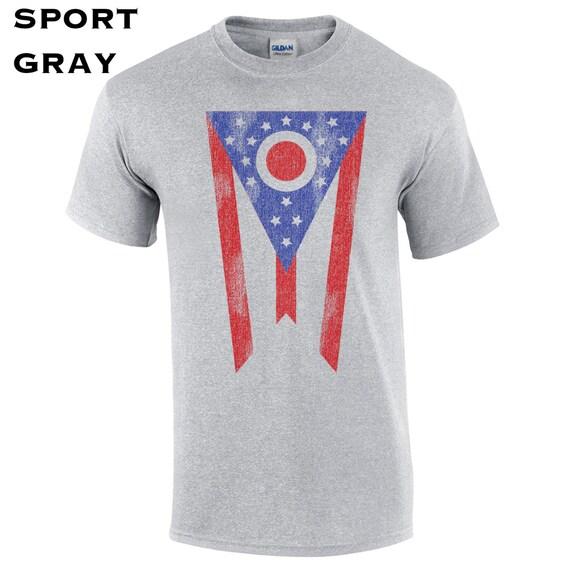 Ohio flag pride midwest cincinnati columbus clevelend toledo for Columbus ohio t shirt printing