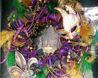 New Year/ Mardi Gras Wreath