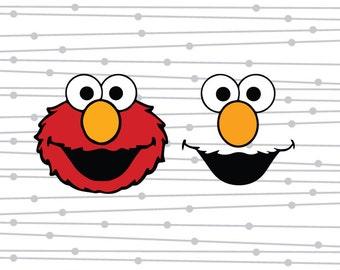 Elmo SVG, Elmo, Sesame Street SVG, DXF, Digital Cut File, Silhouette, Studio, Cricut