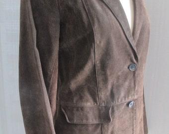 Chaiken Chocolate Brown Suede Jacket Vintage 60's Vibe