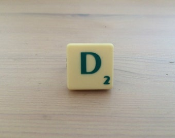 Scrabble Tiles Initial Ring Cute Gift