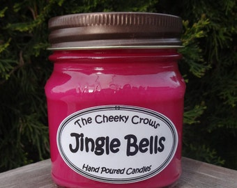 Christmas Candle, Soy Candle, Red Currant Candle, Candle, Scented Candle, Jingle Bells Candle, Cassis Candle, Currant Wine, Paraffin Candle