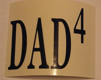 Dad, Pops, Papa, Mom, Nana decal (and more)- permanent vinyl - personalize Yeti & Rtic cups, coffee mugs etc.