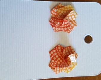twisty rose earrings