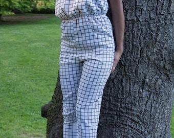 The white checkered jumper