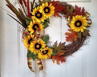 Fall Daisy Wreath