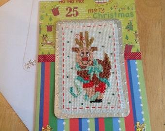 Christmas cross stitch card