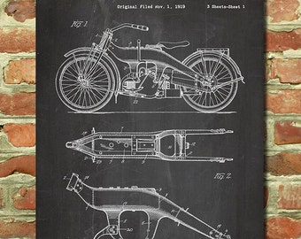 Harley Davidson Gift for Men Motorcycle Gift for Dad Biker Gift for Him Harley Davidson Decor Vintage Motorcycle Wall Art Harley Poster P156