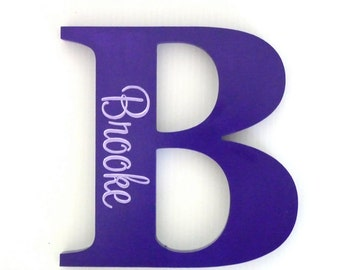 Wooden letters, Custom name sign, Girls name sign, Nursery decor, New baby gift - Purple and mauve