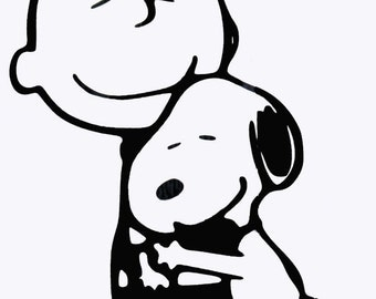 Charlie Brown and Snoopy- Vinyl Decal - Multiple colors and sizes to choose from!!!