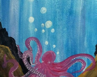 octopus and ocean