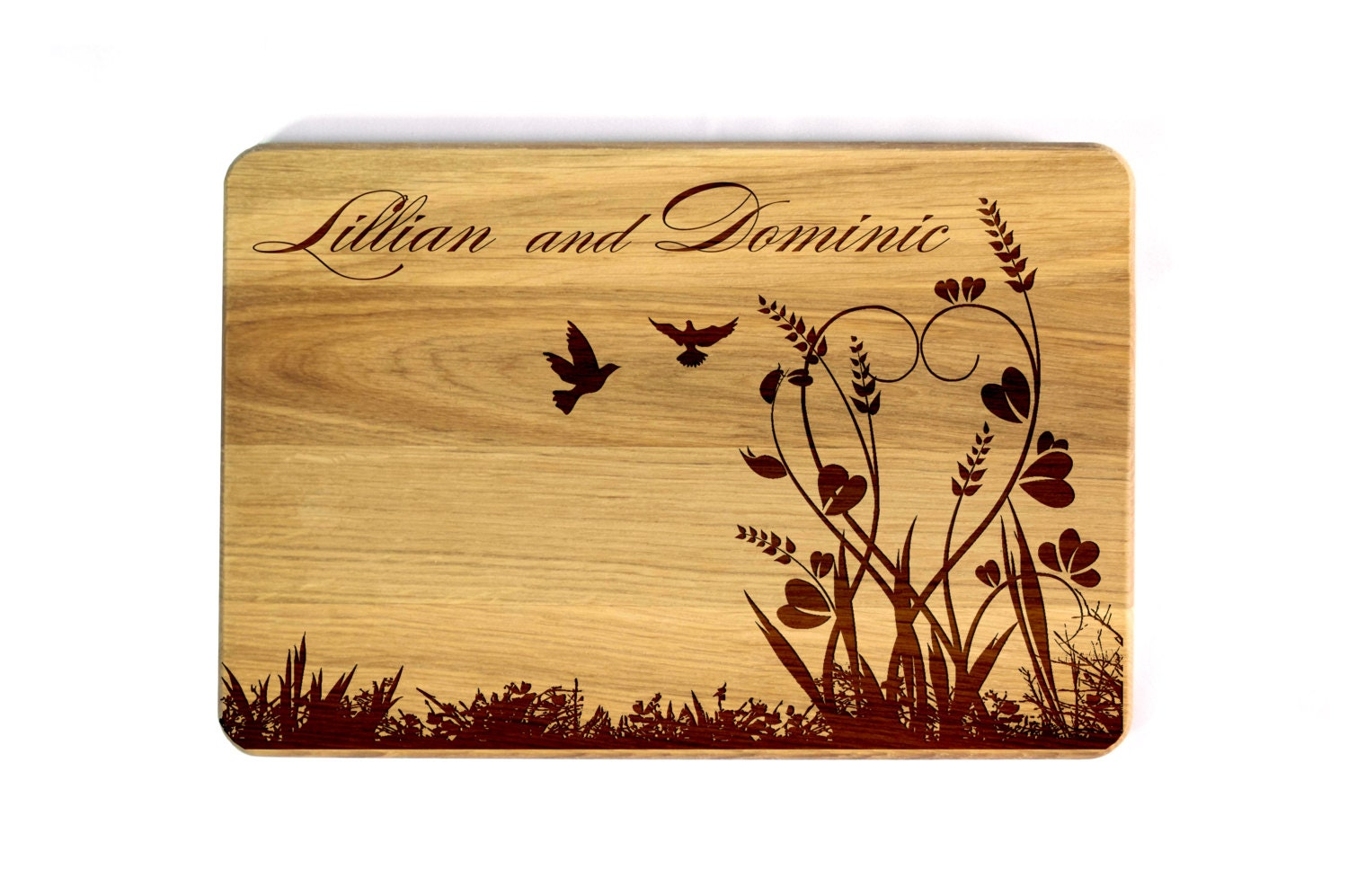 Wedding Gifts For The Couple : Wedding Gift for couple Cutting board Wedding gift flowers