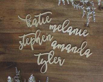 Custom Name Place Holders Cards Wedding Engagement Party SET of 5 Custom