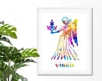 Virgo  3 Watercolor  Astrology Art, Print, Virgo   Sign , Virgo Zodiac, Virgo Wall Art,  Virgo Poster, Gift for  Virgo