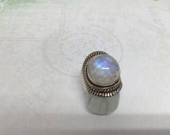 Gorgeous moonstone ring Sterling silver ring