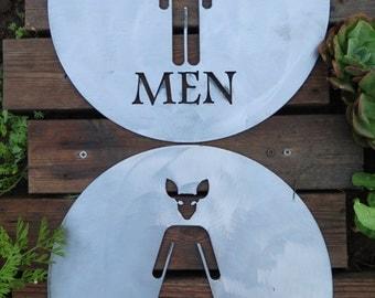 Sheet Metal Restroom Sign