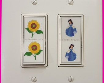 Jolly Stickers for Kids Light Switch! Choose From 50! Clear, Cleanable, Removable